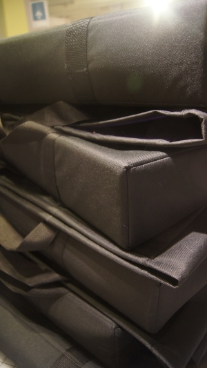 foam padded canvas totes