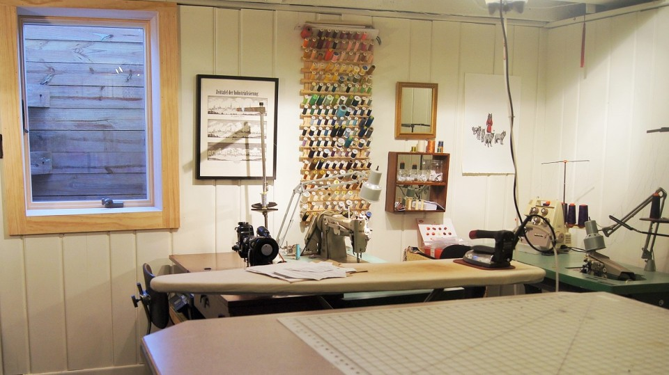 garden level sewing studio