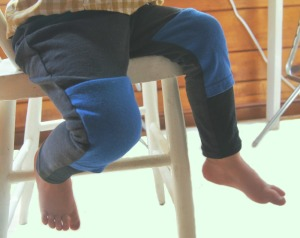 Recycled cotton leggings for boy or girl